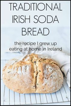 A Traditional Irish Soda Bread Recipe from someone who's actually from Ireland. It only has a few simple ingredients, it's quick to make and tastes absolutely delicious! A great recipe for St. Air Fryer Recipes, Traditional Irish Soda Bread, Irish Traditions, Bread Baking, Baking Soda Bread Recipe, Best Soda Bread Recipe, No Yeast Bread, How To Make Bread, Holiday Recipes