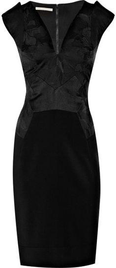 Antonio Berardi Paneled Stretchtwill Dress in Black - Lyst