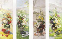 """Eugene Henri Cauchois (1850-1911), """"The four seasons: a set of four floral still lifes"""""""