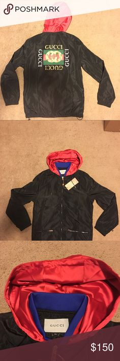 83788d6b0ff8 Gucci Windbreaker Varsity Jacket NEW Med Small New with Tags Comes With All  Pictured. Hood does not attach. Fast same day shipping!!! MAKE ME AN OFFER!