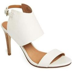 perfect white sandal heels for summer!