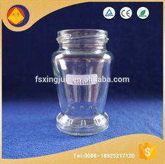 New issue customized wide mouth engraved unique glass jars for honey with round bottom