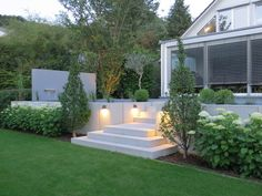 Modern Garden On The Hillside   Garden Design