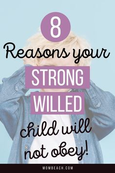 Do you have a stubborn, strong-willed child? Check out these 8 Practical Reasons on Why Your Strong-Willed Child Will Not Obey and some tips on how to get through to them. #obey #parenttips #parenting #childdiscipline #behaviormodification Parenting Articles, Gentle Parenting, Parenting Advice, Step Parenting, Natural Parenting, Advice For New Moms, Mom Advice, Kids Behavior, Child Behaviour