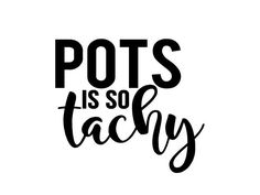 "POTS is so tachy 4"" vinyl decal - Postural orthostatic tachycardia syndrome - chronic illness - spoonie sticker - dysautonomia - spoonie by StickersForSpoonies on Etsy"