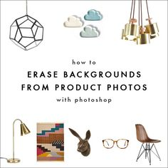 If you follow my other blog Earl Grey, you might have seen my screencast on how to create product collages. Today, along those lines, I'm going to share a few simple ways to remove product image ba...