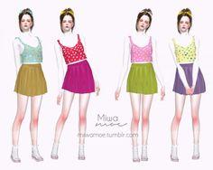 Miwamoe: Colorful Dress • Sims 4 Downloads
