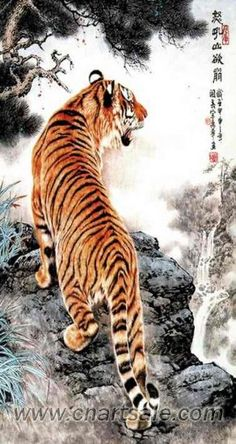 Chinese Tiger Painting AP032