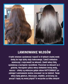 Laminowanie włosów - Ten zabieg odmieni je całkowicie... Beauty Care, Diy Beauty, Beauty Makeup, Beauty Hacks, Beauty Recipe, Natural Cosmetics, Bad Hair, Hair Hacks, Beauty Secrets