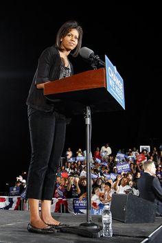 Michelle Obama - Michelle Obama Leads Campaign Rally In Las Vegas