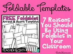 FREE Foldable Interactives and Flip BookTemplates TeacherKarma.com