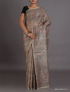 Haritha Silver Moon Tope To Toe Intricate #MadhubaniSilkSaree