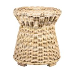 -Handwoven of natural rattan by artisans in Indonesia, this versatile accent table showcases a pedestal silhouette atop petite wood feet. A small-space problem solver, it can be tucked beside a couch or chair as an accent table or used as a stool. Fusing coastal, tropical and traditional decor tastes, it lends dimensional texture to any room you choose.  Color:Natural. Also could be used for stools,seating,accent seating,end table,living room furniture,side table,small table,end table,home… Beach Mirror, Rattan Side Table, Round Stool, Drink Table, World Market, Showcase Design, Traditional Decor, End Tables, Natural