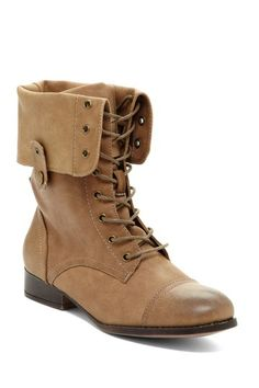 In search of the perfect fall boot: Sharper Foldover Combat Boot on HauteLook