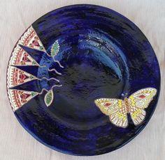 piatto farfalla e fiori