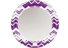 Purple Chevron Glitter Locker Mirror for $5.99.