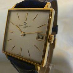 nice square vintage baume & mercier watch