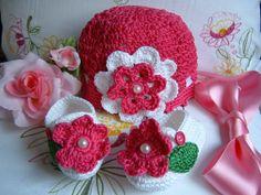 Completino per neonata composto da cappellino e by ipizzidianto, €21.00