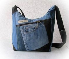 jeans messenger bag recycled denim crossbody bag patchwork