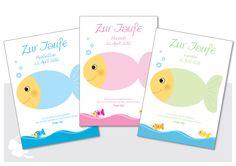 Fotoalbum & Gästebuch - Fingerprint-Gästeplakat zur Taufe - Fisch - ein Designerstück von vorfreude-design bei DaWanda