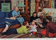 Betty MacDonald in the living room at Vashon on the cover of The Saturday Evening Post.