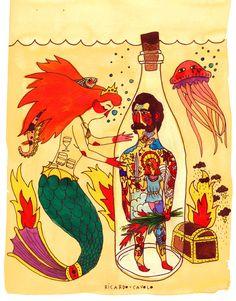 mermaid-&-sailor-I | Explore Ricardo Cavolo