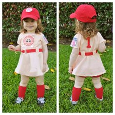 Rockford peaches for a Halloween costume. Must have for our future little doll! Costume Halloween, Carnaval Costume, Little Girl Halloween Costumes, Halloween Makeup, Cute Kids, Cute Babies, Little Ones, Little Girls, Rockford Peaches