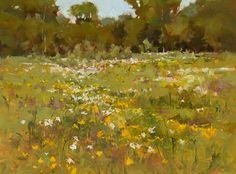 """Early Summer Delight by Derek Davis Oil ~ 12"""" x 16"""""""