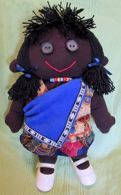 African Handmade Doll. Soft and cuddly with a by AfricanSunDolls, $50.00