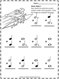 Music Math with a Santa Theme! 24 worksheets aimed at reinforcing students' understanding and knowledge of note and rest values. Each music math worksheet has a SANTA image for the student to color.