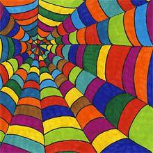 Farbiges Spinnennetz