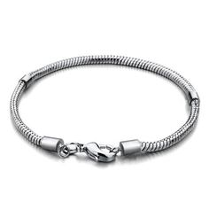 Pugster Bracelet For Pandora Beads Fit Pandora Charms (6.7 Inch) Pugster. $6.88. Perfect gift for Christmas. Pandora bead compatible. 3mm Wide. Lobster claw clasp. Compatible with non screw European beads 3.5mm core or larger