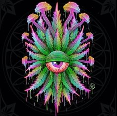 Enjoy these 27 cool & trippy AF pictures 🙂. Psychedelic Art, Arte Dope, Dope Art, Mundo Hippie, Weed Wallpaper, Drugs Art, Trippy Pictures, Arte Alien, Surreal Art