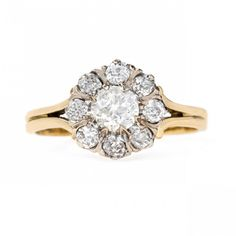 Antique Cluster Ring with Coveted English Hallmarks | Woodway