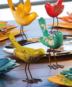 Cute and colorful little birds, fun to add to any space to add a bit of whimsy.