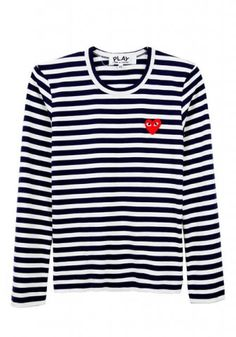 Post image for Comme des Garçons Play Striped Tee