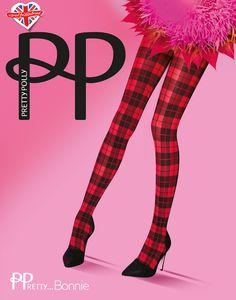 Pretty bonnie panty van Pretty Polly. Panty met tartan ruitje. Leuk gecombineerd met een jurkje. Herfst / winter fashion collectie. Kleur: zwart / rood. Maat: One size (36 t/m 42)