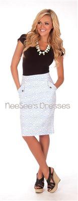Triangle Pattern Pencil Skirt, Vintage Dress, Church Dresses, modest skirt, trendy modest dresses, dresses for church, skirts for church. $45