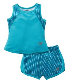 New Balance Blue & Intensity Moire Tank & Shorts - Infant, Toddler & Girls Cute Baby Girl, Cute Babies, New Balance Azul, That Look, Take That, Toddler Girls, Infant Toddler, Unique Photo, Just For You