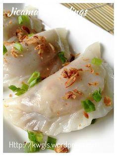Chinese Steamed Bamboo Shoot dumplings with Jicama fillings #kenneth_goh #guaishushu #soon_kuih #cai_kuih #笋粿