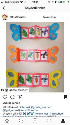 Literacy and Math Activities! The Very Hungry Caterpillar Bug Crafts, Preschool Activities, Diy And Crafts, Crafts For Kids, Life Cycle Craft, Hungry Caterpillar Activities, Butterfly Life Cycle, Butterfly Crafts, Spring Activities