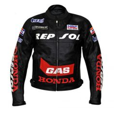 Honda Repsole Black Motorcycle Leather Jacket Padded S TO 6XL Manufacturer