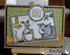 Animale Outing and Swirly Frames Stampin' Up! - www.stempeltijd.com