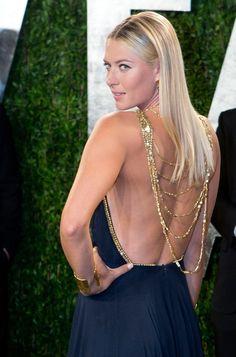 Maria Sharapova looking drop dead at the Vanity Fair Oscar party. #sharapova #oscars #tennis #wta