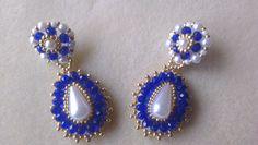 PENDIENTES DUQUESA Beaded Jewelry Designs, Seed Bead Jewelry, Bead Jewellery, Jewelry Patterns, Bead Earrings, Diy Jewelry, Handmade Jewelry, Jewelry Making, Bracelet Crafts