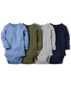 Carter's Baby Boys' 4-Pack Long-Sleeve Solid Bodysuits 12M love these!! you can find them at lots of different places, not just macy's