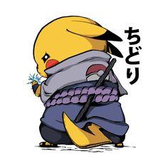 Chudori - Sasuke - T-Shirt | TeePublic Pikachu Pikachu, Pokemon Eevee, Pokemon Avatar, Deadpool Pikachu, Pokemon Fan Art, Anime Naruto, Naruto Shippuden Anime, Naruto Art, Naruto Drawings