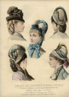 1877-1878 ... LES NOUVEAUTES PARISIENNES engraving