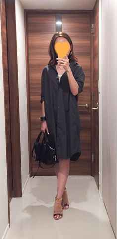 Dark grey dress: MUJI, Bag: Tod's, Sandals: Mode et Jacomo