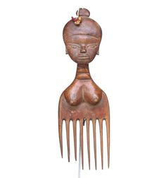 Female Ashanti Comb with Beads #1603 | Combs | Artifacts — Deco Art Africa - Decorative African Art - Ethnic Tribal Art - Art Deco